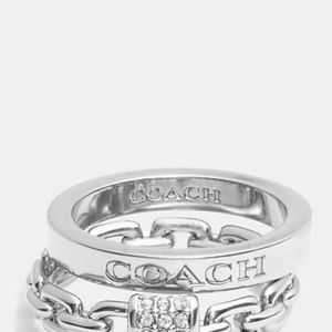 Authentic COACH Sterling Silver Slim Ring